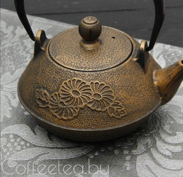 Чайник чугунный с ситом,800мл