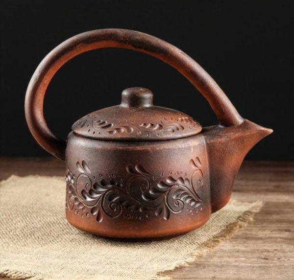 Чайник из красной глины ,1000мл