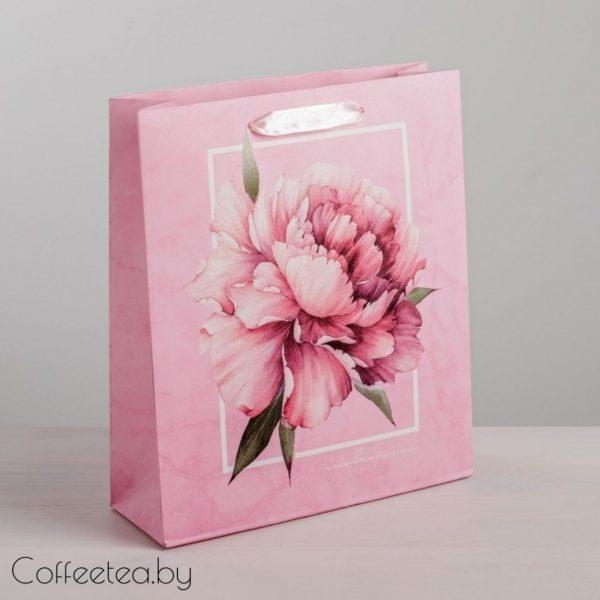 Пакет подарочный «Пион»
