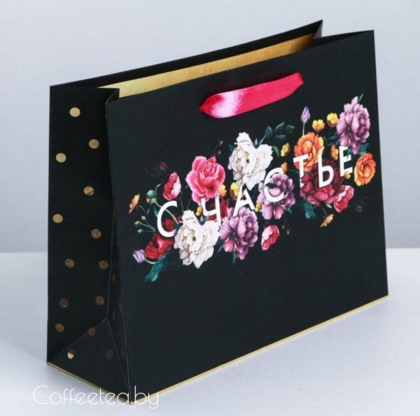 Пакет подарочный «Счастье в мелочах» 23 × 18 × 8 см