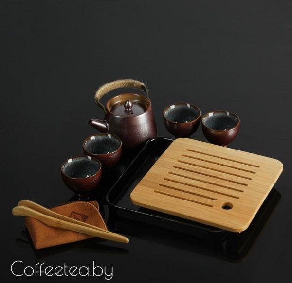 Набор для чайной церемонии (коричневый), 8 предметов