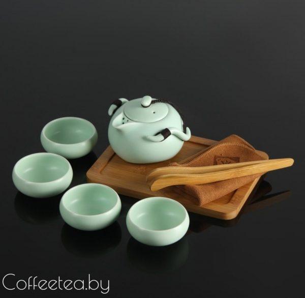 Набор для чайной церемонии (бирюзовый), 8 предметов