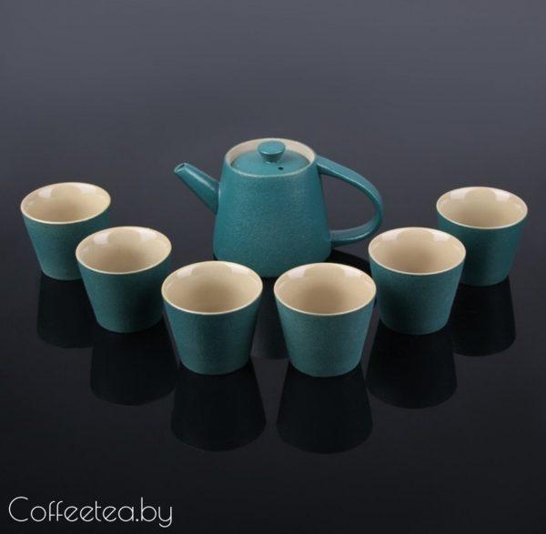 Набор для чайной церемонии (синий), 7 предметов